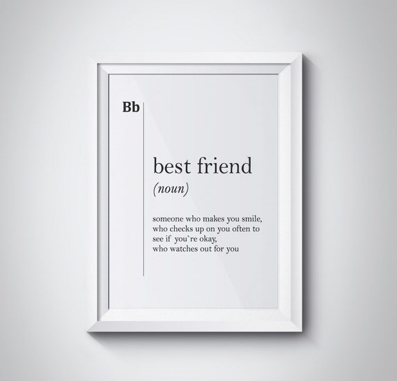 Minimalist Typography Poster from my Love Art Prints Collection Friends become family Typography Art Print