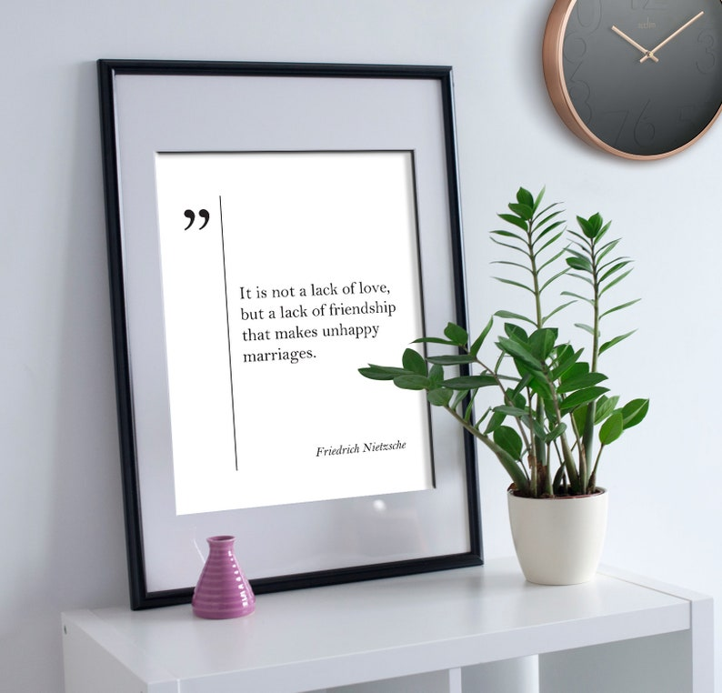 Citation Nietzsche Amitié : Friedrich nietzsche citation ami cadeau amitié citation amitié etsy