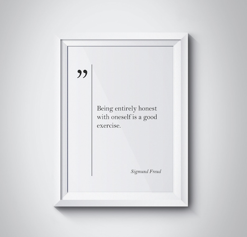 Sigmund Freud Quote Sigmund Freud Wall Art Psychology Quotes Etsy