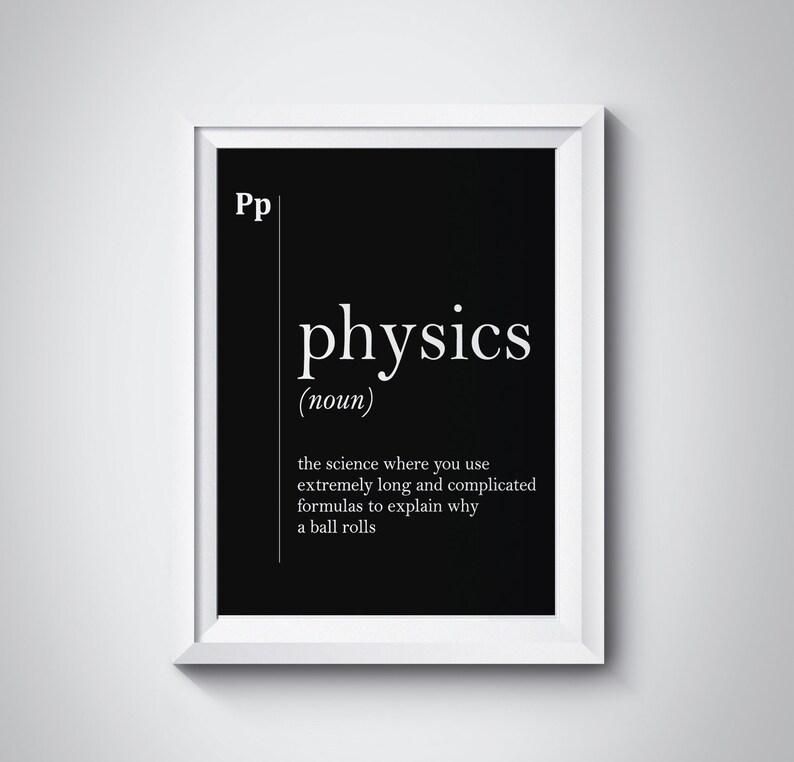 Physik Definition Wand Kunst Wissenschaft Geschenk Lustige Etsy