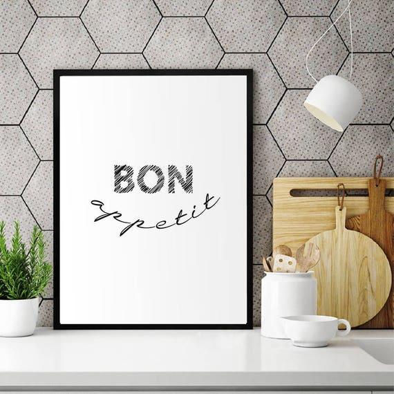 bon appetit sign kitchen wall decor kitchen art bar decor | etsy