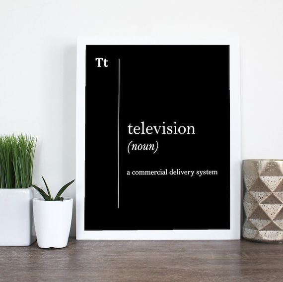 Television Funny Definition Print Advertising Office Decor