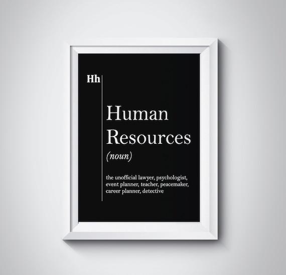 Human Resources Wall Art HR Office Decor Recruiter Coworker