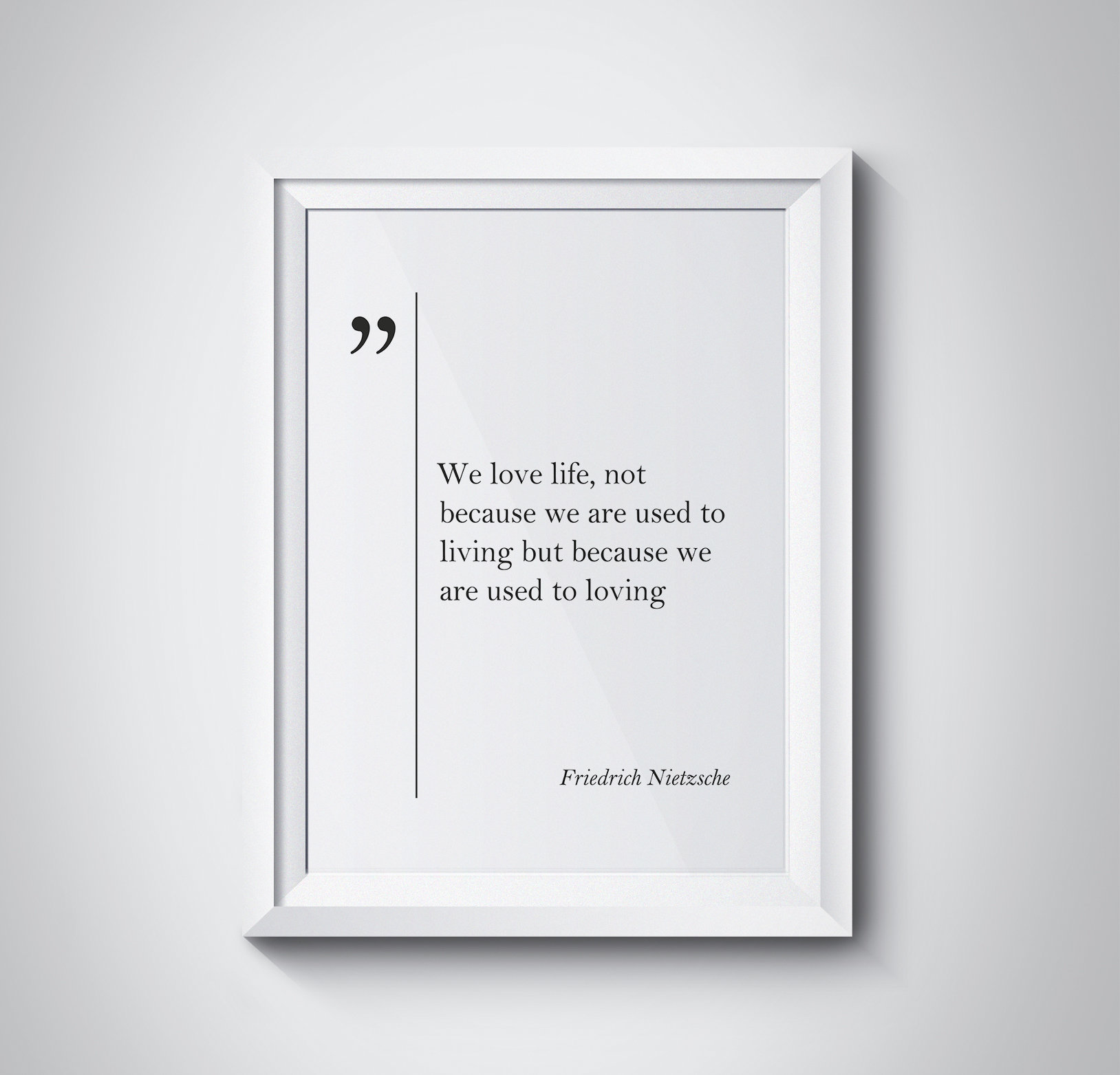 Friedrich Nietzsche Quote Love Quotes Romantic Wall Art Etsy