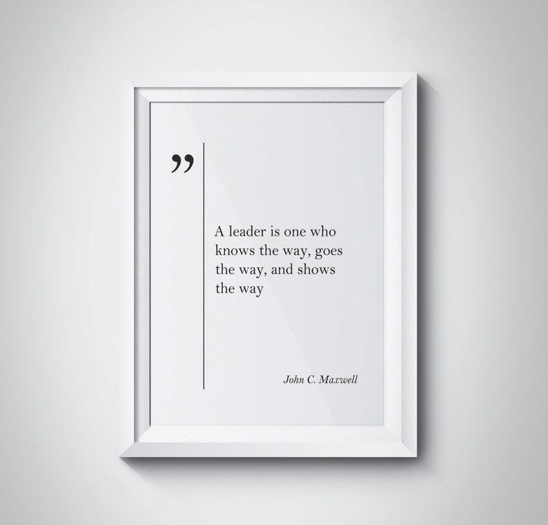John C Maxwell Quote Leadership Quotes John C Maxwell Art Etsy