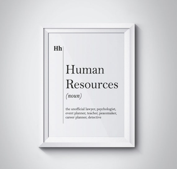 Awesome Human Resources Definition Print HR Office Decor Recruiter