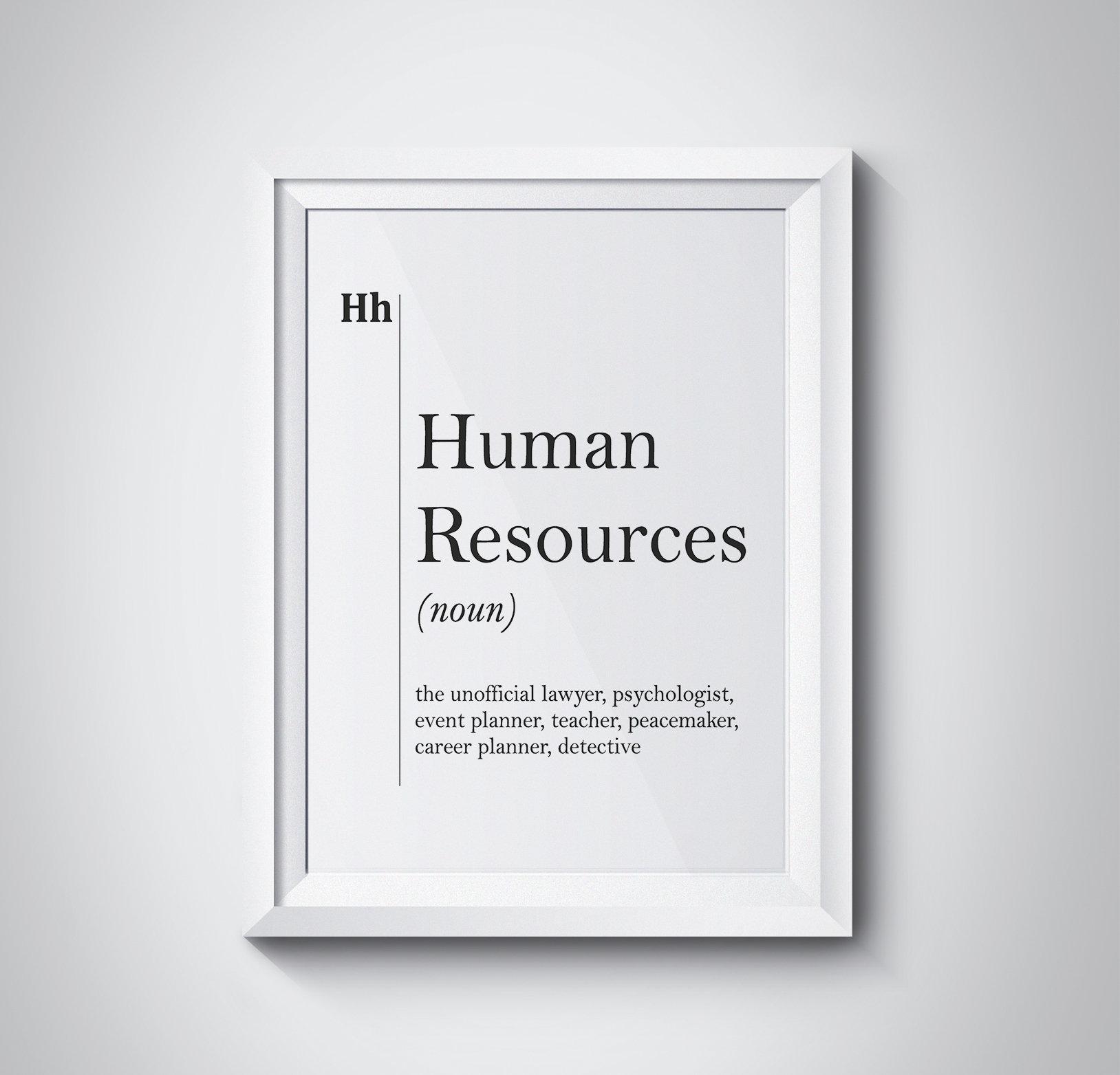 human resources definition print hr office decor recruiter | etsy
