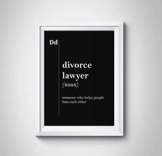Divorce lawyer definition lawyer gift lawyer poster gift for etsy image 0 solutioingenieria Image collections