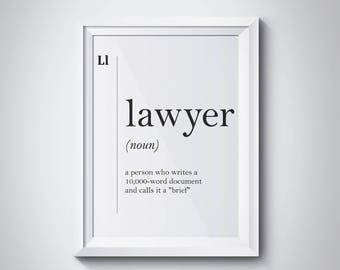 Lawyer Definition Lawyer Gift Funny Lawyer Poster Lawyer Office Decor Gift For Lawyer Dorm Art Lawyer Art Lawyer Graduation Gift Law Gift