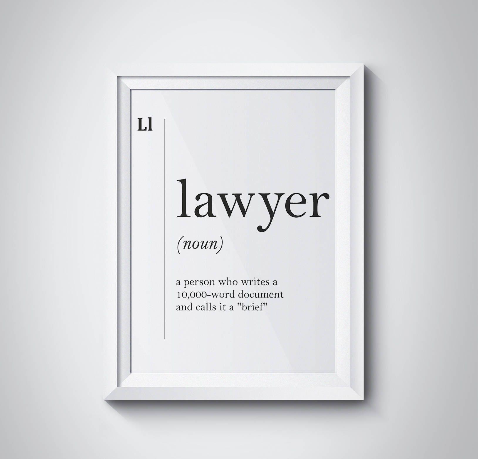 Rechtsanwalt Definition Anwalt lustige Anwalt Poster