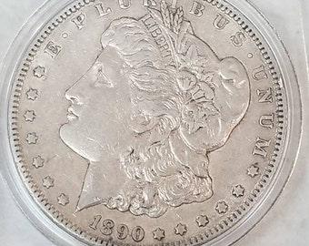 1890cc carson city morgan silver dollar, very fine original
