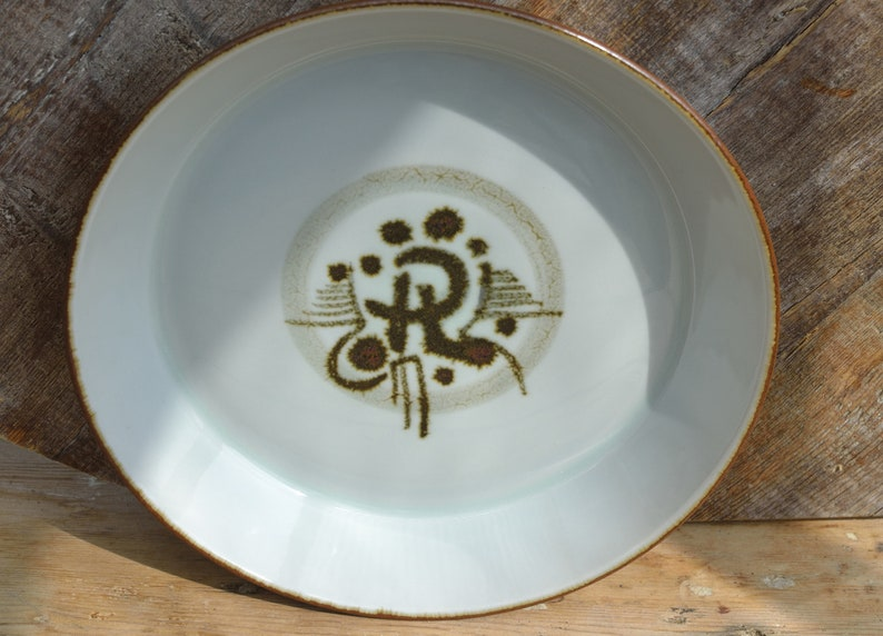 Large plate 23cm Desiree Thule Denmark Retro Stoneware 60s Danish design