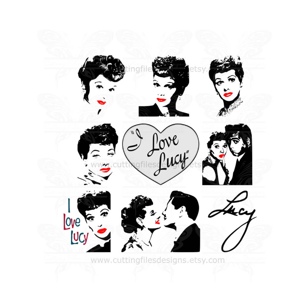 Download I Love Lucy/Lucille Ball SVG Design Bundle Cutting File ...