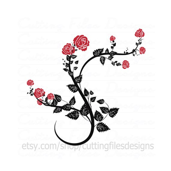 Rose Vine Svg Cutting File W Png For Cricut Design Space And Etsy