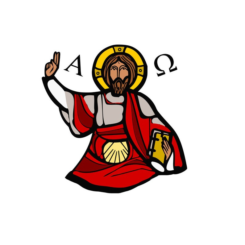 Commercial use for Cricut Design Space and Silhouette Studio Jesus Blessing SVG Design Cutting File also includes PNG