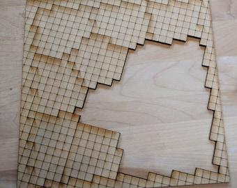 "13 Piece ""Squares"" Laser Cut Jigsaw Puzzle DIGITAL FILE"