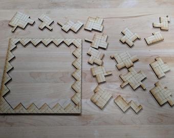 "16 Piece ""Weave"" Tessellation Laser Cut Jigsaw Puzzle DIGITAL FILE"