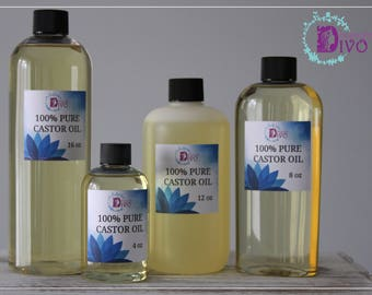 Divo Beauty 100% Pure Castor Oil / Cold Pressed / 4oz 8oz 12oz 16oz/ FREE SHIPPING