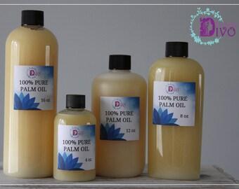 Divo Beauty 100% Pure Palm Oil / 4oz 8oz 12oz 16oz / FREE SHIPPING