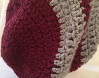 Handmade crochet slouch beanie
