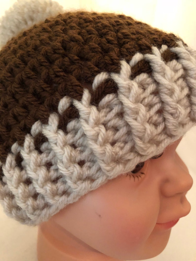 READY TO SHIP*** Handmade crochet beanie for child