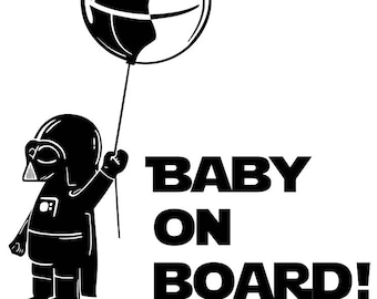 Star Wars Baby on Board Decal