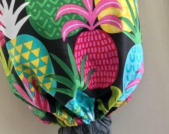 Grocery Bag  Market Bag  Reversible  Washable  Aloha  Pineapples