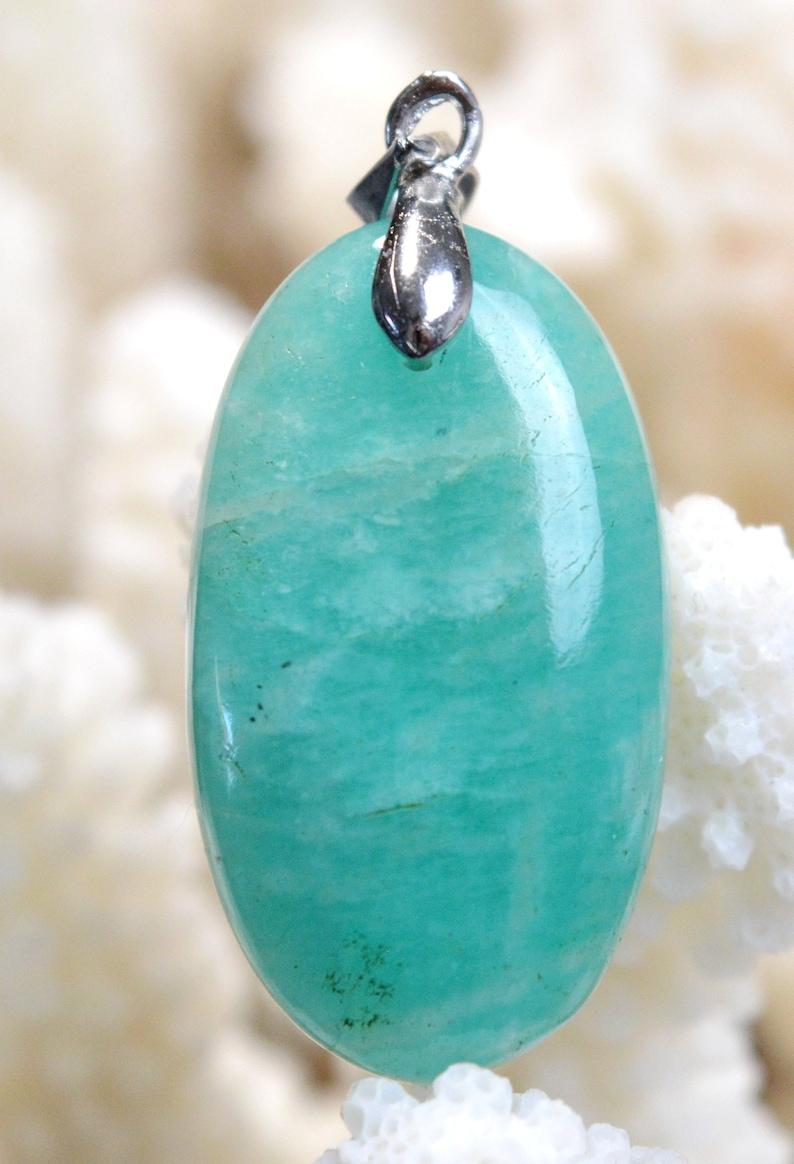 cabochon pendant natural stone Brazil  Ref W45 Amazonite 32 carats