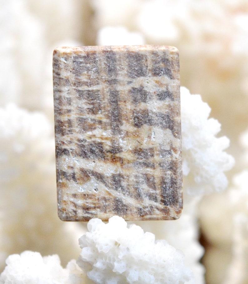 Aragonite zoned 34 carats Peru  AZ61 cabochon natural stone