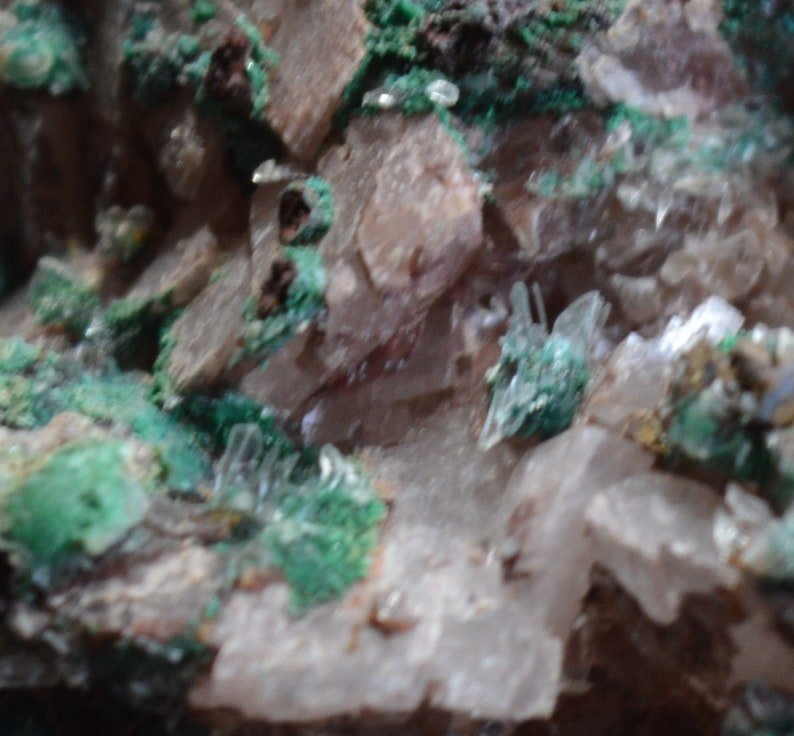 Morocco Touissit Selenite Malachite Dolomite 4680 grams