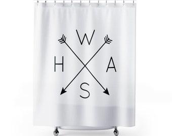 Shower Curtain WASH Farmhouse Bathroom Decor Bath Dorm Unisex College Tribal Arrows