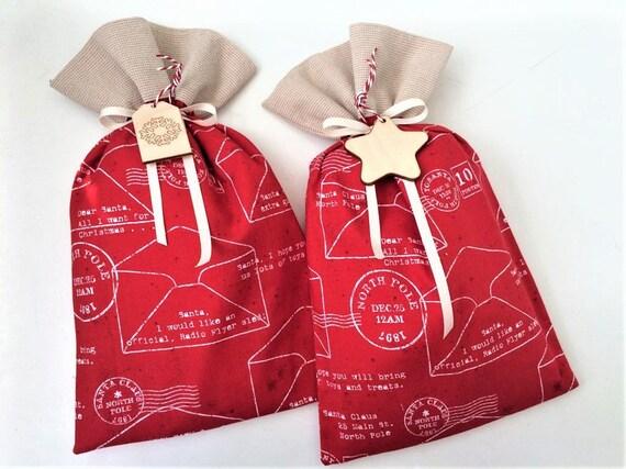 Christmas Gift Bags For Kids.Santa Sack Christmas Gift Bag Christmas Bags For Presents For Kids Red Santa Sack Santa Sack For Kids Fabric Gift Bag Santa Letter Sack