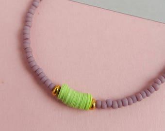 Modern minimal beaded bracelet