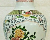 Chinese KANGXI-Style Verte Enameled Porcelain Vase with Mark