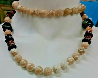 Beads Agate  & Onyx Necklace Handmade