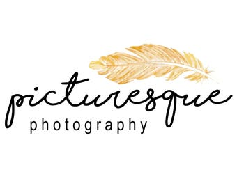 Photography Logo and Watermark | Pre-made Logo Design | Feather Logo Design