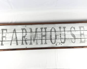 Farmhouse sign. Large Farmhouse Sign.