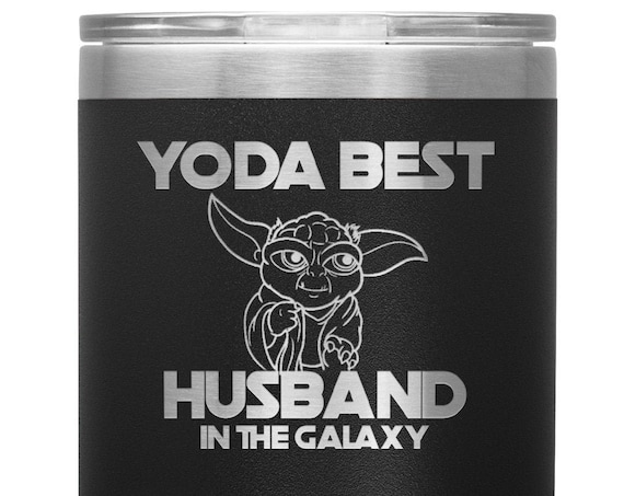 Husband Tumbler Yoda Best In the Galaxy Valentines Day Gift for Husband Anniversary Gift for Birthday Pilsner for Men