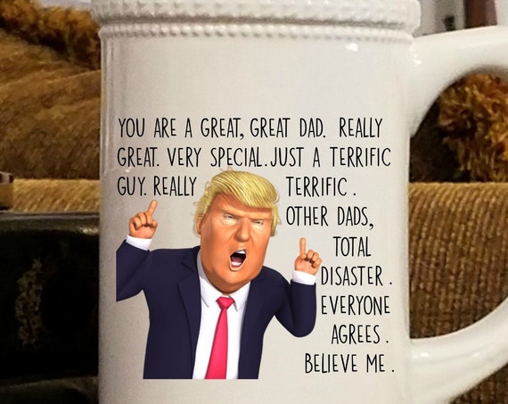 Donald Trump Beer Mug for Trump Fathers Day Gift for Dad Beer Stein Trump Gift For Men Birthday Gift For Father Gag Gift Trump Supporter