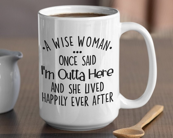 Funny Retirement Gift For Women From Colleagues and Coworkers, I'm Outta Here Funny Mug, Retired Coffee Mug