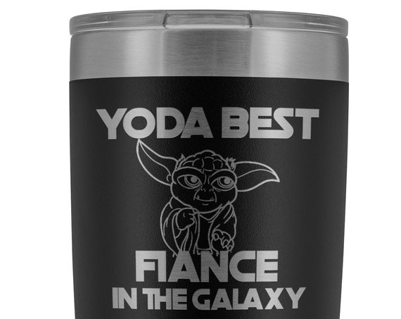 Fiance Gift Funny Tumbler Valentines Gift for Fiance Birthday Gift Yoda Best Fiance Engagement Gift for Men Funny Fiance Yoda Mug Fiance Mug