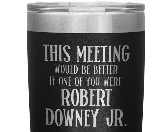 Robert Downey Jr Tumbler Iron Man Marvel Avenger Fan Gift for Coworker Office Gifts for Men and Women Work Mug Gift for Best Friend
