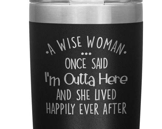 Retirement Gift For Women From Coworkers I'm Outta Here Funny Tumbler Retired Coffee Mug Goodbye Gift New Job Gift