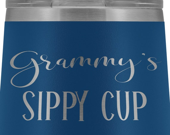 Grammy Gift for Grammy Sippy Cup Wine Tumbler for Grammy Gifts for Mothers Day Gift Birthday Gift for Grandma Wine Tumbler for Grammy Mug