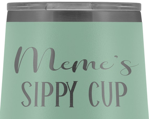 Meme Gift for Meme Sippy Cup Wine Tumbler for Meme Gift for Mothers Day Gift Birthday Gift for Grandma Wine Tumbler for Meme Mug for Women