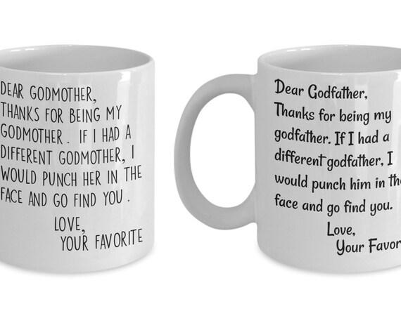 Godparent Gift Mug Set for Couples Gift for Godmother Mug For Godfather Gift Funny Gift for Godparents Mug Funny Coffee Mugs for Couples