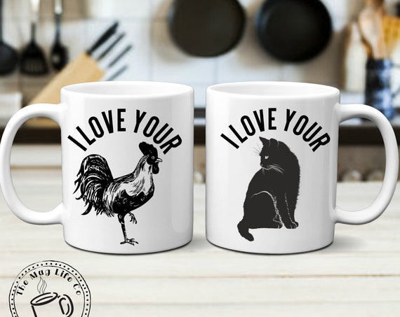 Funny Valentines Mug Set for Couples Gift I love Your Cock & Pussy Mugs Inappropriate Gift Gag Gift For Men Naughty Gift for Couples Mug Set