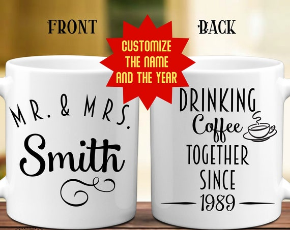 30th Anniversary Gift for Parents Personalized 30 Year Anniversary Mug for Husband Customized Gift for the Happy Couple Pearl Anniversary