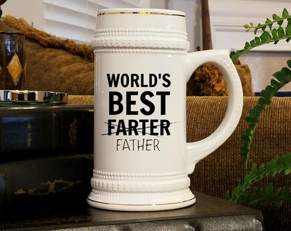 Best Farter Beer Stein Gift For Dad Beer Mugs for Father Gifts for Dad Beer Lover Gift for Fathers Day Beer Tankard Birthday Gift for Dad