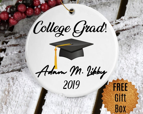 Graduation Gift Personalized College Graduation Ornament Keepsake for College Graduate Ornament Christmas Gift for Grad Christmas Ornaments